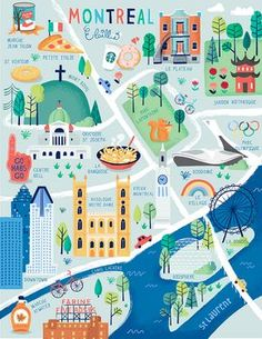 Montréal en plan   Elaillce   Blog d'illustration sur le Quebec