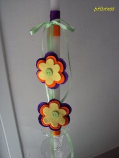 Easter candle Easter Candle, Easter Crafts, Candles, Blog, Candy, Blogging, Candle Sticks, Candle