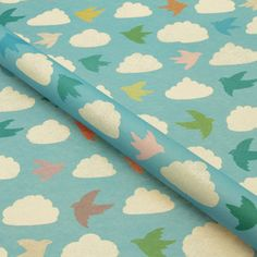 Bird Clouds Wrapping Paper