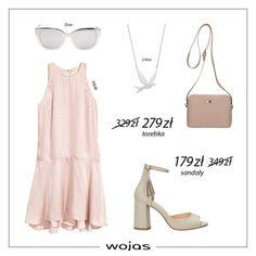 Delikatna i zwiewna sukienka w kolorze pudrowego różu idealnie komponuje się z sandałkami z frędzlem. Torebka Wojas z licowej skóry oraz srebrne dodatki nadają stylizacji dziewczęcego looku.
