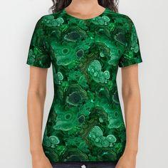 Malachite All Over Print Shirt by Ravynka $34