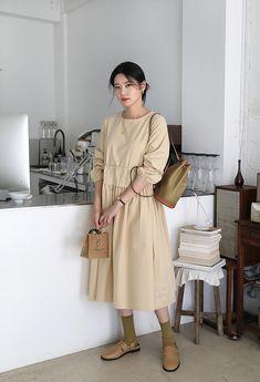 Korean Dress, Korean Style, Korean Fashion, Shirt Dress, Coat, Jackets, Shirts, Outfits, Dresses