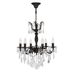 Worldwide Lighting W83328F23 Versailles 6 Light Crystal Chandelier