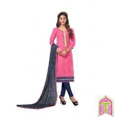 Unstitched Salwar Kameez Stepping fashion Pink color Designer Salwar Suit