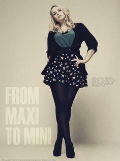Plus Model�Gina Swire. 38 inch bust, 31.5 inch waist, 44.5 inch hips for�Slink Magazine