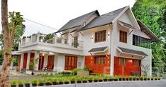 കാത്തിരുന്ന കണ്മണിയെപ്പോലെ പുതിയ വീട്; ജീവിതം ഇപ്പോൾ കൂടുതൽ സുന്ദരം Free House Plans, Courtyard House Plans, House In Nature, Kerala Houses, Eco Friendly House, My Dream Home, Sweet Home, Exterior, Mansions