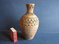 VINTAGE Old Vase Marked Keramik Celle Brown Hand made