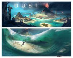 From Dust, Bruno Gentile - Hydropix on ArtStation at https://www.artstation.com/artwork/from-dust-e5a2142b-26ac-4197-9766-28495e83f375