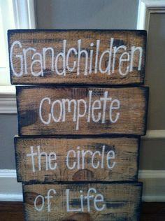 Pallet Art Grandchildren by HollysHobbiesTN on Etsy, $50.00 @Bob Szeliga