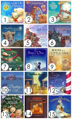 Christ-Centered Christmas Books for Kids--love that we have so many of these for the kids to pour into during Advent! Christmas Books For Kids, Preschool Christmas, Christmas Star, Christmas Activities, Family Christmas, Winter Christmas, Christmas Crafts, Christmas Music, Advent For Kids