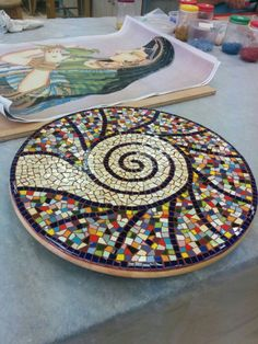 Mosaico Mosaic Tray, Mosaic Tile Art, Mosaic Artwork, Mosaic Crafts, Mosaic Projects, Mosaic Flower Pots, Mosaic Pots, Mosaic Birds, Mosaic Glass