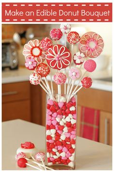 Edible Valentine Bouquet with donuts!