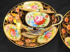 CROWN STAFFORDSHIRE ONE SET ROSE BUTE TEA CUP AND SAUCER