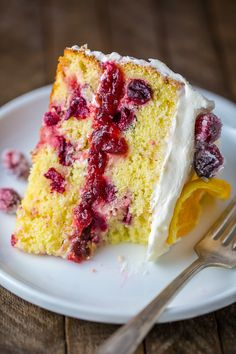 Moist and flavorful Cranberry Orange Cake