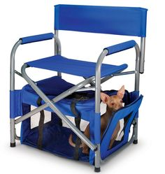The Portable Chair And Pet Quarters - Spoiled B-rats - Perros Cool Stuff, Garden Posts, Home Tech, Hammacher Schlemmer, Urban Survival, You Have No Idea, Our Kids, Garden Styles, Cool Gadgets