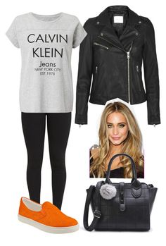 """""""Orange."""" by frenkiefashion on Polyvore featuring Calvin Klein and Steve Madden"""