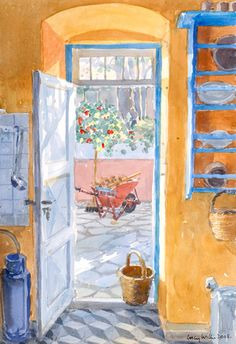 The Kitchen Door - Lucy Willis Prints - Easyart.com