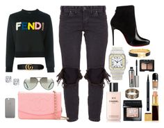 """Street Chic"" by claudia-miguel on Polyvore featuring Chanel, Fendi, One Teaspoon, Cartier, Native Union, Bobbi Brown Cosmetics, Tom Ford, Christian Louboutin, Porsche and Hermès"