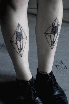 geometric tattoo | Tumblr