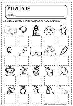 English Worksheets For Kids, Writing Worksheets, Preschool Worksheets, Activity Sheets For Kids, Craft Activities For Kids, Preschool Activities, Teaching Spanish, Teaching Kids, First Grade Phonics