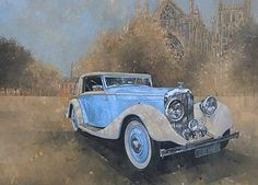 Motor Car Painting - Bentley By Kellner by Peter Miller