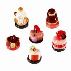 【フェーブ】Patisseries お菓子 6個 -BOUILLET 2014年 ブイエ (M)(S) - フェーヴ販売 - 日本最大!陶器小物雑貨通販のフェーブなつじかん