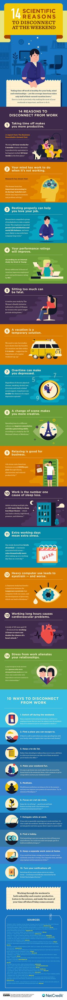 14 Scientific Reasons To Disconnect At The Weekend #Infographic #Health