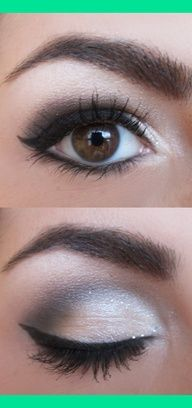 eyeshadow for brown eyes...this is EXACTLY how I do my eyes. Great tutorial!