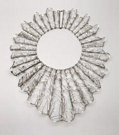 "Francis Willemstijn - necklace 2014  ""Nederland 1650"" - new silver, silver, gold - € 6000   -Galerie Rob Koudijs -"