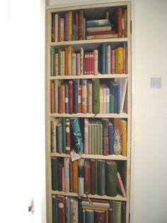 Trompe l'oeil bookcase.