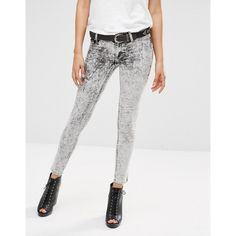 Cheap Monday Low Spray Skinny Jeans ($60) ❤ liked on Polyvore featuring jeans, black, mid rise skinny jeans, skinny leg jeans, tall jeans, mid-rise jeans and skinny fit denim jeans