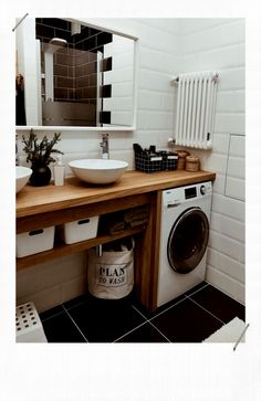 Inexpensive Tiny Laundry Room Design Ideas With Nature Touches 21 Modern Laundry Rooms, Laundry Room Design, Bathroom Design Small, Laundry In Bathroom, Bathroom Interior Design, Modern Bathroom, Interior Design Living Room, Minimalist Bathroom, Small Laundry