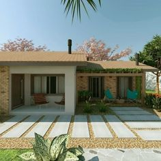 Reforma residencial - Casa de campo: Casas rústicas por Cíntia Schirmer | Estúdio de Arquitetura e Urbanismo #casasrusticasdecampo #casasdecamporusticas