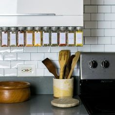 12 Piece Hanging Spice Rack-Silver   Etsy Magnetic Spice Jars, Spice Jar Labels, Spice Shelf, Spice Storage, Spice Racks, Hanging Spice Rack, Liquid Chalk Markers, Poultry Seasoning, Canning Jars