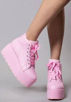 Shop for rave style platform shoes for women. Find that perfect cute rave platform shoe today! Pink Shoes, Hot Shoes, Girls Shoes, Women's Sneakers, Women's Shoes, Sneakers Fashion, Fashion Shoes, Fashion Accessories, Platform Boots