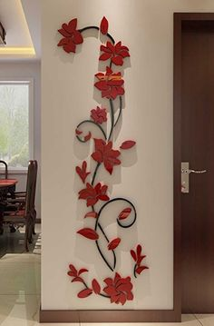 Rattan Flower Wall Murals for Living Room Bedroom Sofa Backdrop Tv Wall Background, Originality Stickers Gift, Removable Wall Decor Decal Sticker x inches) Wall Painting Flowers, Tree Wall Painting, Wall Painting Living Room, 3d Wallpaper Living Room, Wall Painting For Hall, Wall Stickers Home Decor, Wall Stickers Murals, Wall Decor, 3d Wall Murals