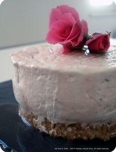 Rose and Ricotta cheesecake