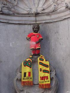 Manneken-Pis comme Diable Rouge - Rode Duivel - Red Devil (Belgian national football team)