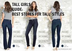 TALL GIRLS GUIDE Best Places to Shop