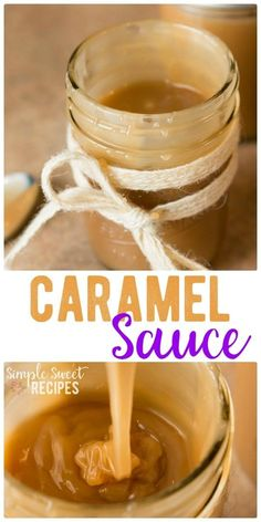Decadent and sweet, this homemade caramel sauce is easy to make and finger-lickin' good. Use it to top your favorite recipes or serve it as a simple dip. via @simplesweetrecipes