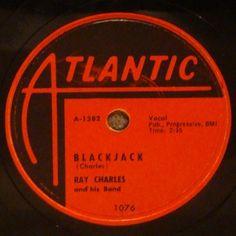 Ray Charles on Atlantic circa '54. #78rpm #blues #dj #vintage #vinyl