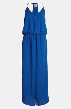 Royal blue maxi dress.