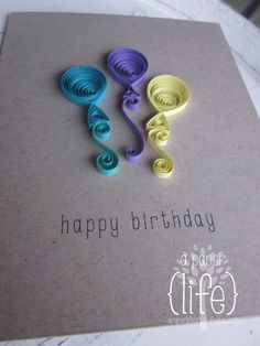 Cute—quilled balloons birthday card❣ APaperLifeOriginals • Etsy
