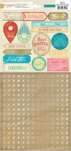 Crate Paper The Pier - Mini Alpha Stickers