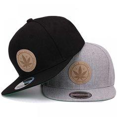 0328fa6d9ad6e Hatlander - Gorra plana de marihuana - 3 colores por ✡11.95✡  CapsandHatsEs