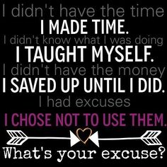 I Stopped Making Excuses and Just Went For It. When I Did Incredible Things Started Happening! Bigger & Better Is Yet To Come! Trust God! Trust Your  Gut! Trust Your Faith! Go For It! Elated I DID! #trust #faith #winning #idid #ican #iwill #noexcuses #trustyourself #youcandothis #bigger #better #goals #excited #elated #ididit #nostopping #allthewayup #allgood
