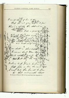 Lord Byron's handwriting
