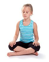 Quiet Sitting pose and four more calming kid poses, yoga
