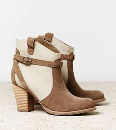 AEO Contrast Strap Bootie - These will be on my feet real soon <3