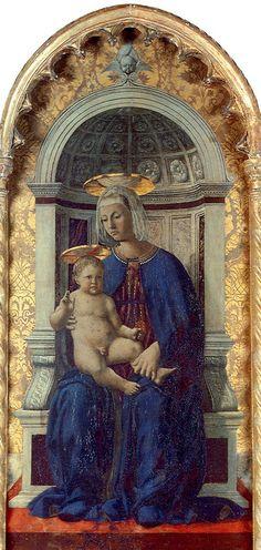 Piero della Francesca - Polittico di Perugia - Madonna col Bambino